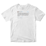 Donald Trump calling Kim Jong-Un short and fat tweet on a white t-shirt from Tee Tweets