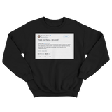 Donald Trump thank you Kanye very cool black tweet sweater