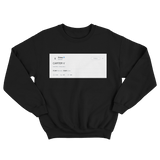 Drake Carter V tweet on a black crewneck sweater from Tee Tweets