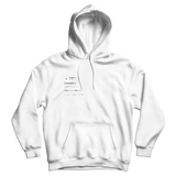 Drake Carter V tweet on a white hoodie from Tee Tweets