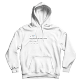 Drake hardly forget anything tweet on a white hoodie from Tee Tweets