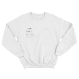 Drake or nah tweet on a white crewneck sweater from Tee Tweets