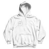 Drake we made it white tweet hoodie