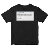 Draymond Green Andre Iguodala jacking the game off tweet on a black t-shirt from Tee Tweets