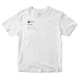 Ed Balls tweet on a white t-shirt from Tee Tweets