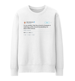 Ellen DeGeneres Thanksgiving parading down Fifth Ave tweet on a white sweatshirt from Tee Tweets