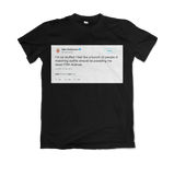 Ellen DeGeneres Thanksgiving parading down Fifth Ave tweet on a black t-shirt from Tee Tweets