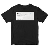 Elon Musk taking Tesla private at 420 funding secured tweet on a black t-shirt from Tee Tweets