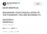 Eminem mad at Netflix for cancelling The Punisher tweet from Tee Tweets