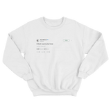 Eric Bledsoe I dont wanna be here white tweet sweater