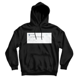 Gucci Mane guwop is good for the economy tweet on a black hoodie from Tee Tweets