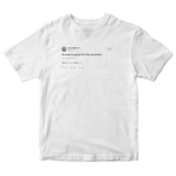 Gucci Mane guwop is good for the economy tweet on a white t-shirt from Tee Tweets