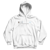 Harry Styles scared of the dark and the dentist tweet on a white hoodie from Tee Tweets