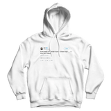 Ice T everybody on Twitter have a great day tweet on a white hoodie from Tee Tweets