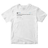 Ice T everybody on Twitter have a great day tweet on a white t-shirt from Tee Tweets