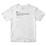 Ice T no problems with people tweet on a white t-shirt from Tee Tweets