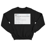 Ice T why pull up when I can have you brought in a trunk tweet on a black sweatshirt from Tee Tweets