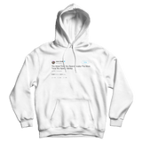 Jack Dorsey the more time you spend awake the more time asleep tweet white hoodie from Tee Tweets