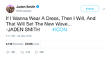 "Jaden Smith - ""If I Wanna Wear A Dress"""