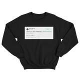 Jimmy Fallon don't go Jason Waterfalls TLC lyrics tweet on a black crewneck sweater from Tee Tweets