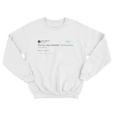 Jimmy Fallon don't go Jason Waterfalls TLC lyrics tweet on a white crewneck sweater from Tee Tweets
