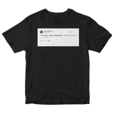 Jimmy Fallon don't go Jason Waterfalls TLC lyrics tweet on a black t-shirt from Tee Tweets