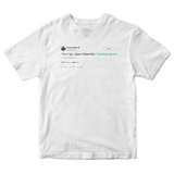 Jimmy Fallon don't go Jason Waterfalls TLC lyrics tweet on a white t-shirt from Tee Tweets