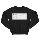 Joel Embiid asks Rihanna are you single tweet on a black crewneck sweater from Tee Tweets