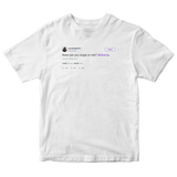 Joel Embiid asks Rihanna are you single tweet on a white t-shirt from Tee Tweets