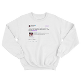 Joel Embiid here is my chance to be with my crush NBAvote white tweet sweater