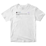 Joel Embiid don't compare me to Ayton tweet on a white t-shirt from Tee Tweets