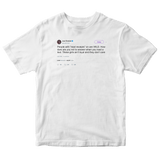 Joel Embiid read receipts with girls tweet on a white t-shirt from Tee Tweets
