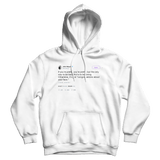 John Mayer congratulations about your face tweet on a white hoodie from Tee Tweets