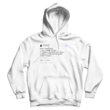 John Mayer how to tweet safely on a white hoodie from Tee Tweets