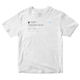 John Mayer probably taking a nap later tweet on a white t-shirt from Tee Tweets