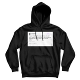 John Mayer sorry I'm late tweet on a black hoodie from Tee Tweets