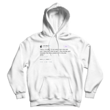John Mayer sorry I'm late tweet on a white hoodie from Tee Tweets
