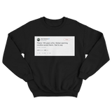 Jose Canseco global warming could have saved Titanic tweet on a black sweatshirt from Tee Tweets
