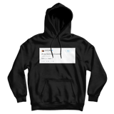 Kanye West all you have to be is yourself tweet on a black hoodie from Tee Tweets