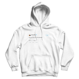 Kanye West all you have to be is yourself tweet on a white hoodie from Tee Tweets