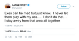 Kanye West responding to Amber Rose fingers in booty tweet from Tee Tweets