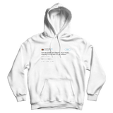 Kanye West I am the Jordan and Steph Curry of music meaning the best of two generations white tweet hoodie