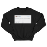 Kanye West Kim doesnt understand what a blessing I am to her black tweet sweater