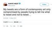 Kanye West tweets are a form of contemporary art from Tee Tweets