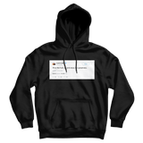 Kanye West stfu and enjoy the greatness tweet on a black hoodie from Tee Tweets