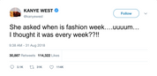"Kanye West - ""Fashion Week"""
