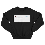 Kanye West I wish I had a friend like me tweet on a black crewneck sweater from Tee Tweets