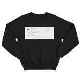 Kanye West Im nice at ping pong black tweet sweater