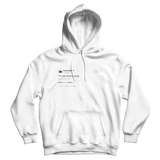 Kanye West Im nice at ping pong white tweet hoodie