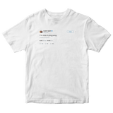 Kanye West I'm nice at ping pong tweet on a white t-shirt from Tee Tweets